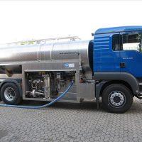 Sisteme de masurare a laptelui, cisterne
